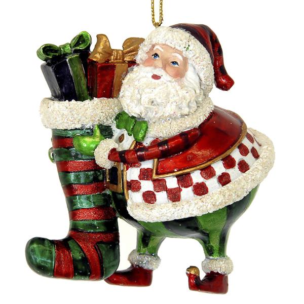 Bolle Kerstman Met Cadeau Zak